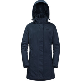 Jack Wolfskin Madison Avenue Hardshell Coat Damen midnight blue